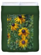 Painterly Flowers Duvet Cover
