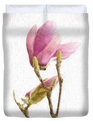 Painterly Pink Magnolia Duvet Cover