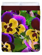 Painterly Purple Pansy Duvet Cover