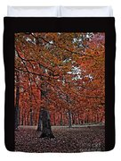 Painterly Style Autumn Trees Duvet Cover