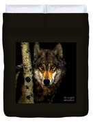 Painting ... Wolf In Aspen Grove Duvet Cover