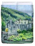 Eilean Donan Medieval Castle Scotland Duvet Cover