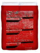 Painting It Red Duvet Cover