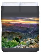 Painting Of Desert View Grand Canyon Duvet Cover