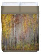 Painting Of Trees In A Forest In Autumn Duvet Cover
