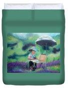 Painting The Lavender Fields Duvet Cover