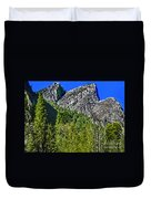 Painting Three Brothers Peaks Yosemite Np Duvet Cover