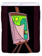 Painting Veil Canvas Duvet Cover
