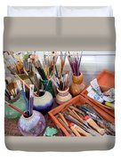 Painting Work Table Duvet Cover