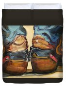 Pair Of Boots Duvet Cover