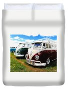 Pair Of Busses Duvet Cover
