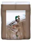 Pair Of Ducks Duvet Cover