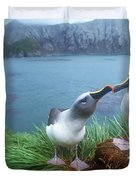 Pair Of Grey-headed Albatross Duvet Cover