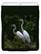Pair Of Herons Duvet Cover