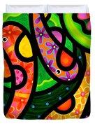 Paisley Pond - Vertical Duvet Cover by Steven Scott