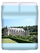 Palace And Garden Bussy Rabutin - Burgundy Duvet Cover