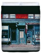 Palace Barber Shop And Lees Candy Store Duvet Cover