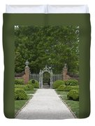 Palace Garden Gate Duvet Cover