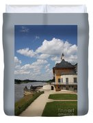 Palace Pillnitz And River Elbe Duvet Cover