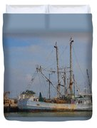 Palacios Texas Rhonda Kathleen In Port Duvet Cover