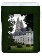 Palais In Tours With Cathedral Steeple Duvet Cover