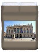 Palazzo Madama In Turin Duvet Cover