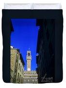 Palazzo Vecchio Clock Tower Duvet Cover