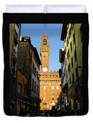 Palazzo Vecchio In Florence Italy Duvet Cover
