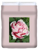 Pale And Dark Pink Peony Duvet Cover