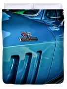 Pale Blue Rider -2 Duvet Cover