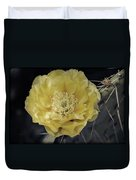 Pale Yellow Prickly Pear Bloom  Duvet Cover