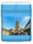 Palenque Palace Tower Duvet Cover