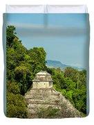Palenque Temple Duvet Cover