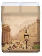 Pall Mall From The National Gallery Duvet Cover