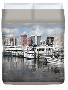 Palm Beach Docks Duvet Cover
