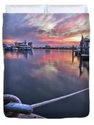 Palm Beach Harbor Duvet Cover
