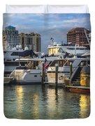 Palm Beach Marina Duvet Cover