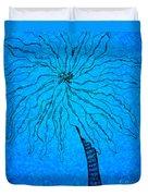 Palm Blue Duvet Cover