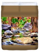 Palm Canyon Trail Duvet Cover