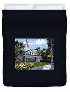 Palm Cottage Naples Florida Duvet Cover