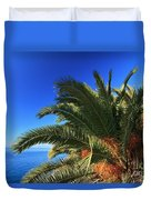 Palm Over The Sea Duvet Cover