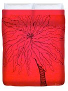 Palm Red Duvet Cover