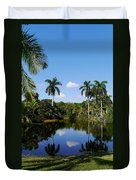 Palm Reflection And Shadow Duvet Cover