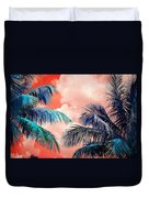 Palmscape Red Duvet Cover