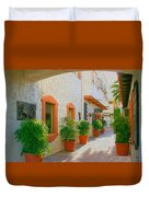 Palm Springs Courtyard Duvet Cover