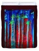 Palm Springs Nocturne Original Painting Duvet Cover