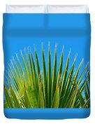 Palm Tree And Blue Sky 2/06 Duvet Cover