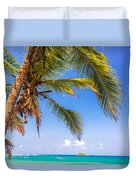 Palm Tree And Caribbean Duvet Cover