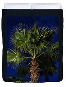 Palm Tree At Night Duvet Cover