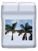 Palm Tree In Costa Rica Duvet Cover